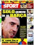 Este mismo verano, el diario SPORT aseguró que Ribery terminaría en el Barça