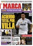 El diario MARCA se atrevió a vestir a Villa de blanco en más de una ocasión